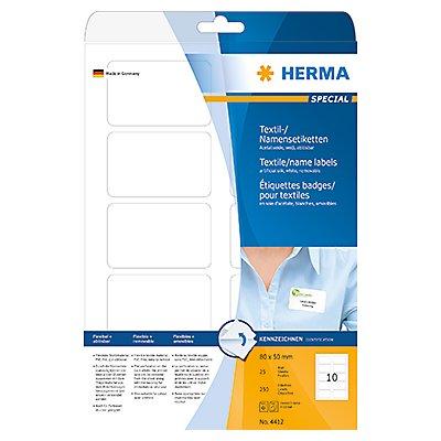 HERMA Namensetikett 4412 80x50mm weiß 250 St./Pack.