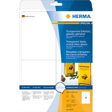 HERMA Folienetikett 8019 99,1x139mm tr 100 St./Pack.