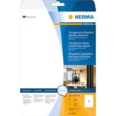 HERMA Folienetikett 8020 210x297mm tr 25 St./Pack.