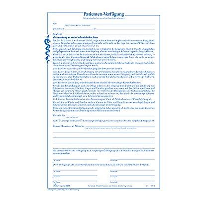 RNK Patientenverfügung 2895 DIN C5 0
