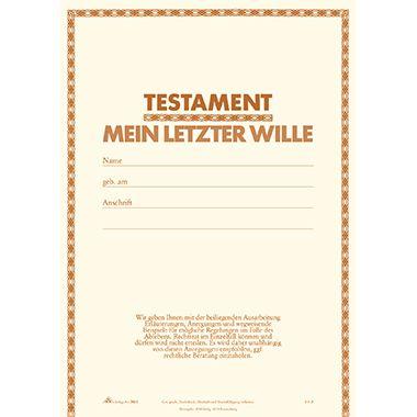 RNK Testament 2812 DIN C5 5teilig