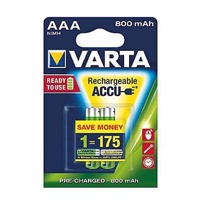 Varta Akku Ready2Use Rechargeable Phone Akku 56703101402 2 St./Pack.
