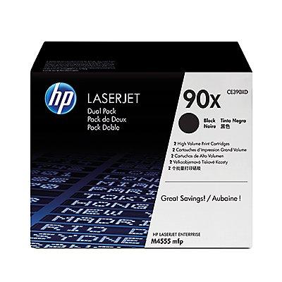 HP Toner CE390XD 90X 24.000Seiten schwarz 2 St./Pack.