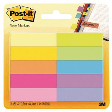 Post-it Haftstreifen Page Marker 670-10AB 12,7x44,4mm 10 St./Pack.