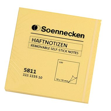 Soennecken Haftnotiz 5813 51x76mm 100Blatt gelb
