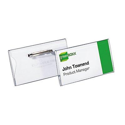 DURABLE Namensschild 800119 40x75mm Kunststoff tr 100 St./Pack.