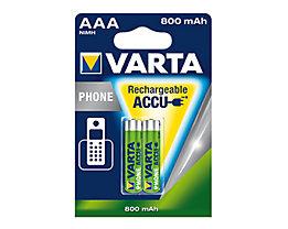 Varta Akku Phone Accu 58398101402 AAA Micro T398 800mAh 2 St./Pack.