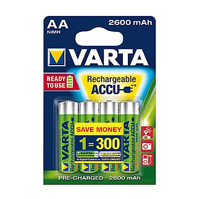Varta Akku Ready2Use 5716101404 AA Mignon HR6 2.600mAh 4 St./Pack.