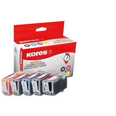 Kores Tintenpatrone G1513KIT wie PGI525/CLI526 sw/c/m/y 5 St./Pack.