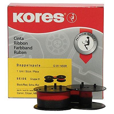 Kores Tischrechnerfarbband G051NSSR Gr.51 13mmx6m Seide schwarz/rot