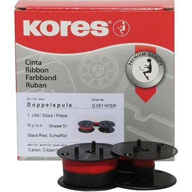 Kores Tischrechnerfarbband  Gr.51 13mmx4m Nylon