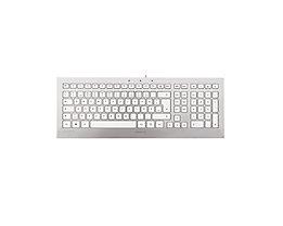 Cherry Tastatur Strait JK-0300DE Metall-Look schnurgebunden USB si