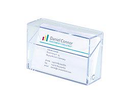 Sigel Visitenkartenbox VA110 max. 100Karten Polystyrol glasklar