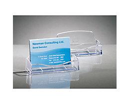 Sigel Visitenkartenhalter VA120 max. 50Karten Polystyrol glasklar
