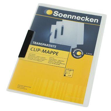 Soennecken Klemmmappe DIN A4 Polypropylen Clip