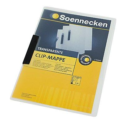 Soennecken Klemmmappe 3264 DIN A4 Polypropylen Clip rot