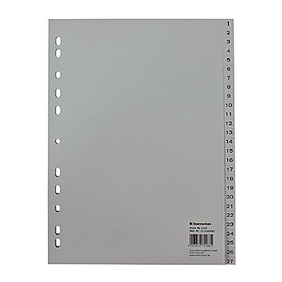 Soennecken Register 1549 DIN A4 1-54 volle Höhe PP grau