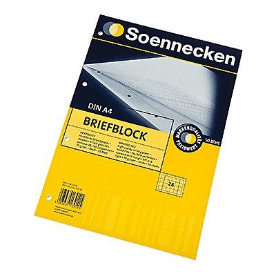 Soennecken Briefblock 2304 DIN A4 gelocht Lineatur28 kariert 50Blatt