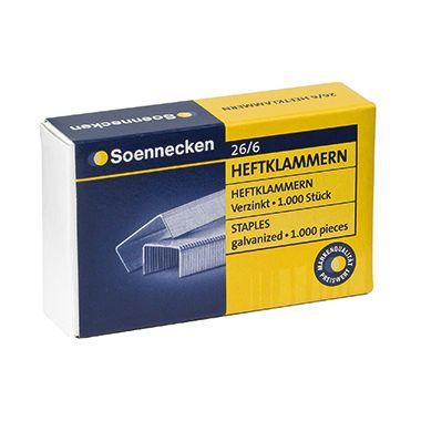 Soennecken Heftklammern 3147 26/6 verzinkt 1.000 St./Pack.