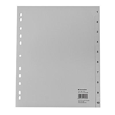 Soennecken Register 2132 DIN A4 1-10 volle Höhe Überbreite PP grau