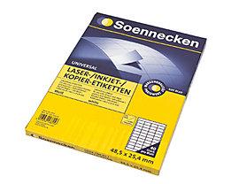 Soennecken Etikett 5757 48,5x25,4mm weiß 4.000 St./Pack.