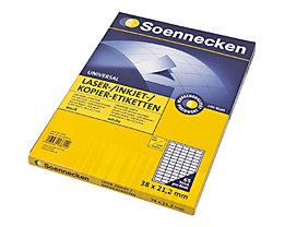 Soennecken Etikett 5755 38x21,2mm weiß 6.500 St./Pack.