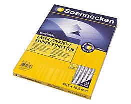 Soennecken Etikett 5756 48,5x16,9mm weiß 6.400 St./Pack.