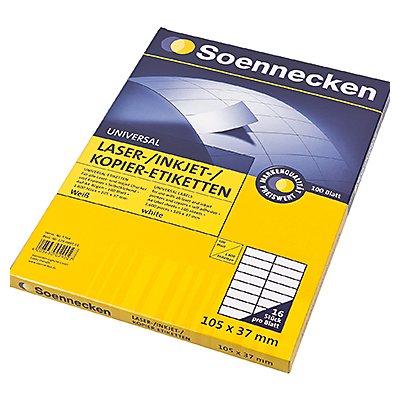 Soennecken Etikett 5764 105x37mm weiß 1.600 St./Pack.