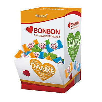 Hellma Süßigkeit Herzbonbons 70000149 200 St./Pack.