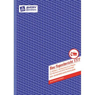 Avery Zweckform Bautagesbericht 1777 DIN A4 3x40Blatt