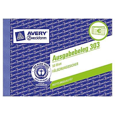 Avery Zweckform Ausgabebeleg 303 DIN A6 quer 50Blatt gelb