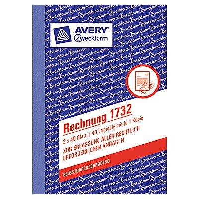 Avery Zweckform Rechnung 1732 DIN A6 2x40Blatt