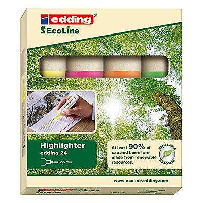 edding Textmarker Highlighter 24 EcoLine 4-24-4 sortiert 4 St./Pack.