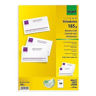 Sigel Visitenkarte DP830 DIN A4 85x55mm 185g ws 150 St./Pack.