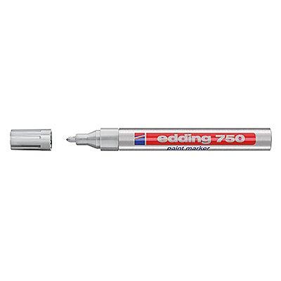 edding Lackmarker 750 4-750054 2-4mm Rundspitze permanent silber