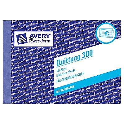 Avery Zweckform Quittung 300 DIN A6 quer 50Blatt