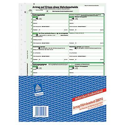 Avery Zweckform Mahnbescheid 2887 DIN A4 1x2Blatt