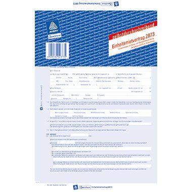Avery Zweckform Mietvertrag 2873 DIN A4 2x4Blatt