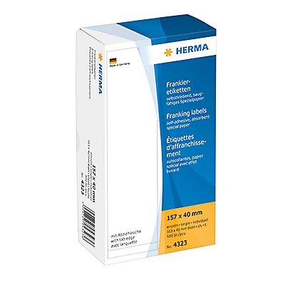 HERMA Frankieretikett 4323 157x40mm einzeln weiß 500 St./Pack.