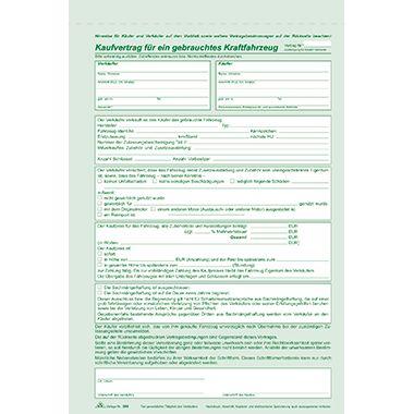 RNK Kaufvertrag 586 f. gebrauchte Kfz DIN A4 sd 4fach 6Blatt