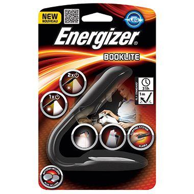 Energizer Buchlampe Booklite 638391 LED schwarz/grau +2xKnopfzelle