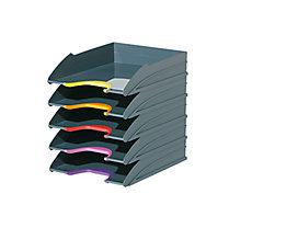 DURABLE Briefablagenset VARICOLOR 770557 C4 5teilig grau