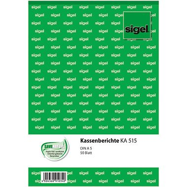 Sigel Kassenbericht KA515 DIN A5 50Blatt