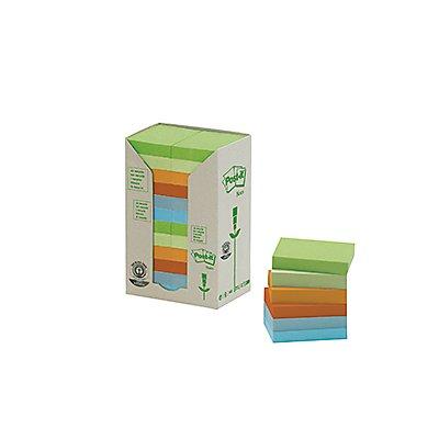 Post-it Haftnotiz Pastel Rainbow 653-1RPT 38x51mm sort. 24 St./Pack.