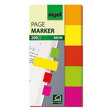 Sigel Haftmarker Neon HN650 20x50mm farbig sortiert 5 St./Pack