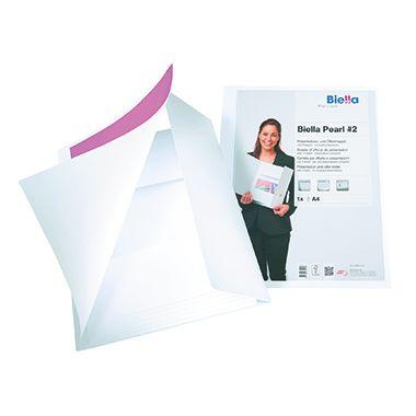 Biella Präsentationsmappe Pearl 2 0186411.01 DIN A4 weiß