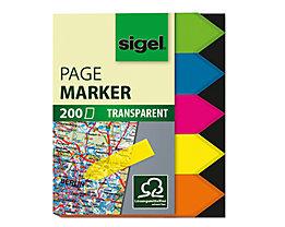 Sigel Haftmarker HN613 45x60mm Pfeil farbig sortiert 5 St./Pack.