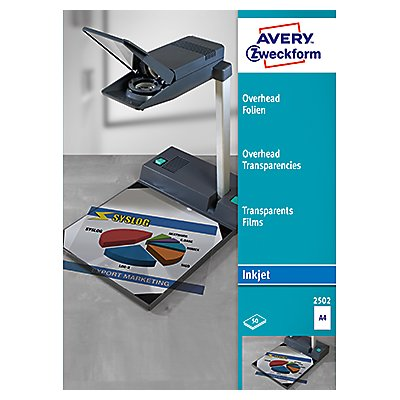 Avery Zweckform Inkjetfolie 2502 DIN A4 transparent 50 St./Pack.