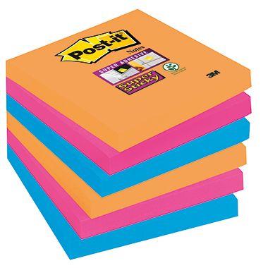 Post-it Haftnotiz Super Sticky  sortiert 6 St./Pack.