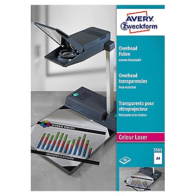 Avery Zweckform Laserfolie 3561 DIN A4 transparent 50 St./Pack.